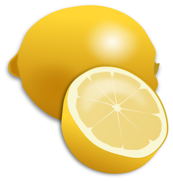 clipartist.net » Clip Art » food lemon citron SVG.