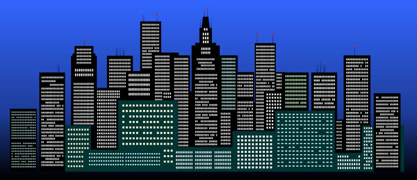 City night clipart.