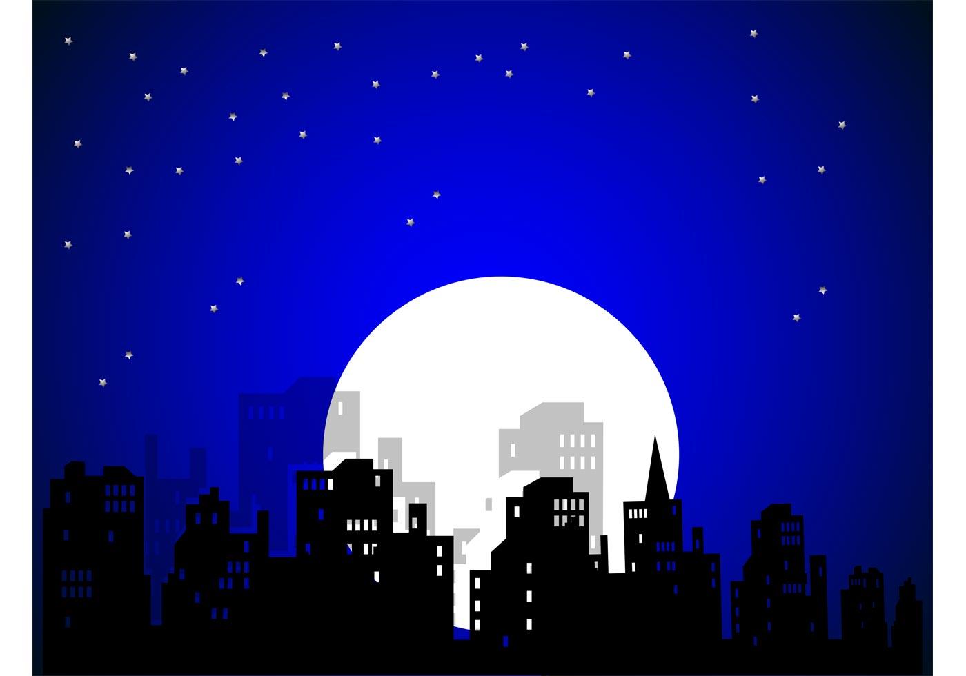 Night Sky Free Vector Art.