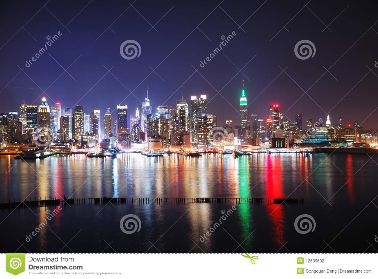 New york city night clipart.