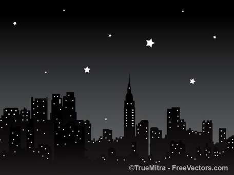 Free Night City Background Clipart and Vector Graphics.