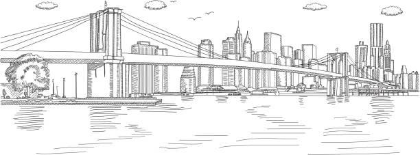 Best Manhattan New York City Black And White Illustrations, Royalty.