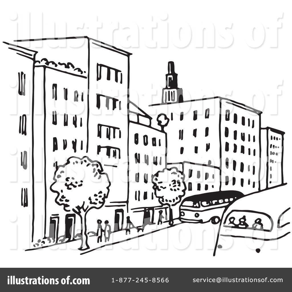 City street clipart black and white 8 » Clipart Station.