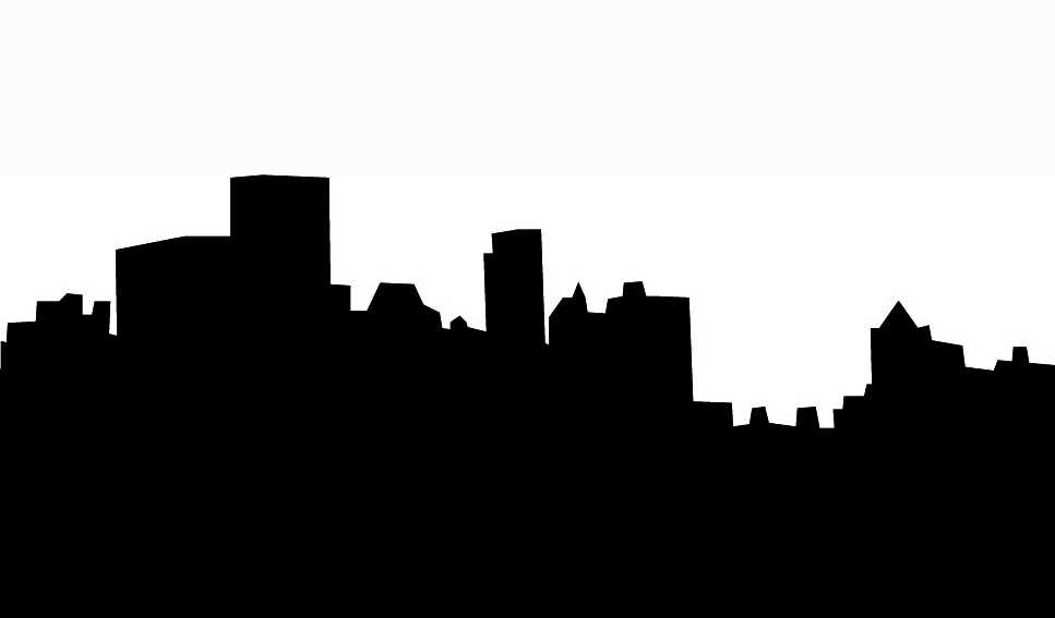 City Clipart Black And White.