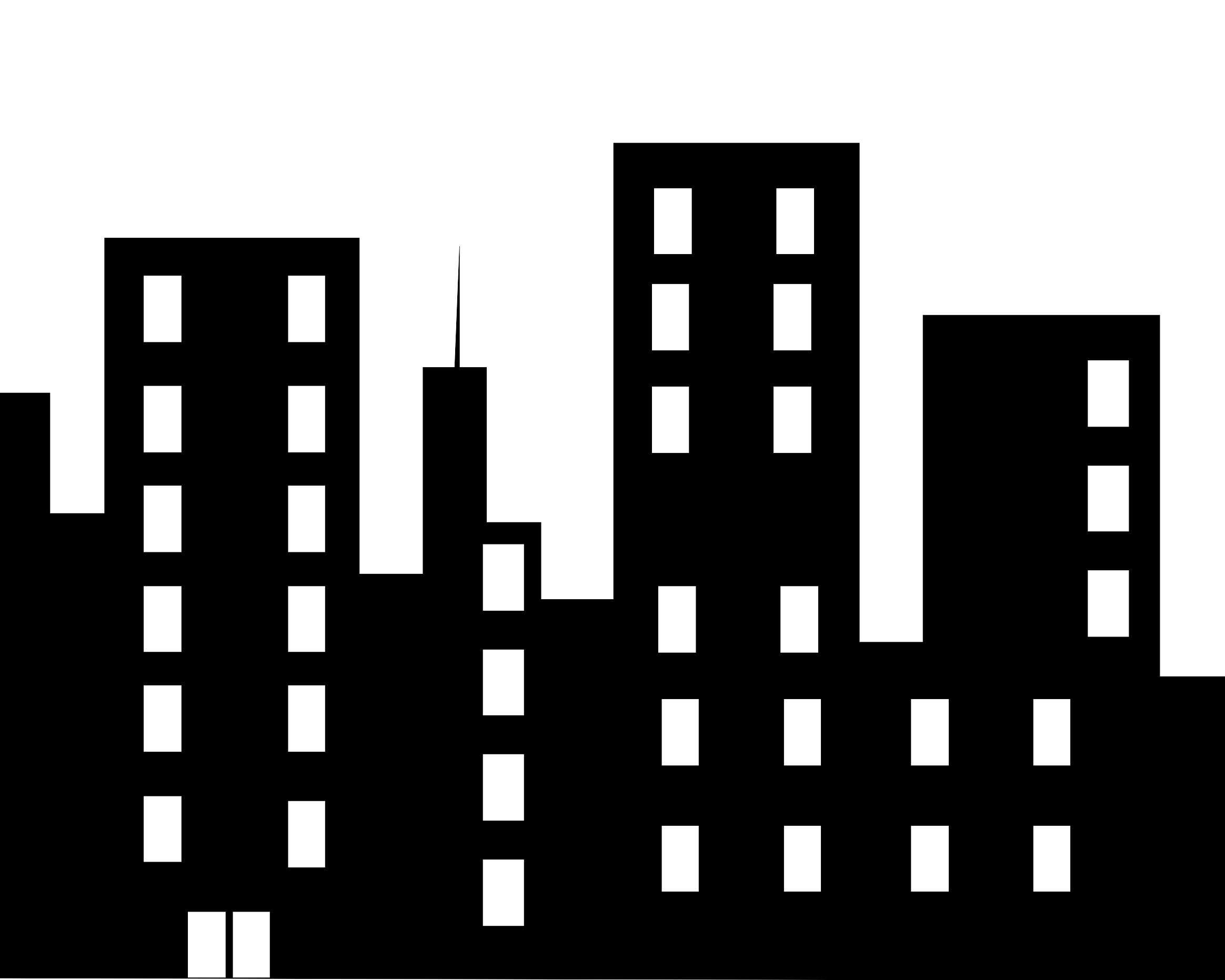 City building clipart black and white png.