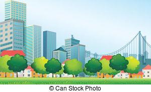 Clipart city buildings.