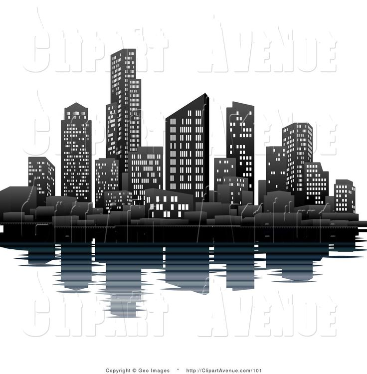 City building clipart #17