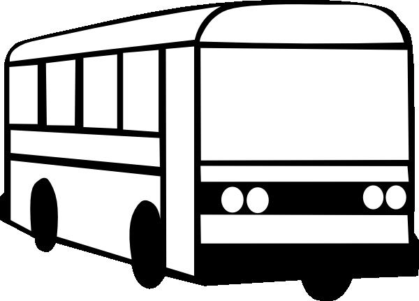 Bus clipart black and white clipartion com 2.