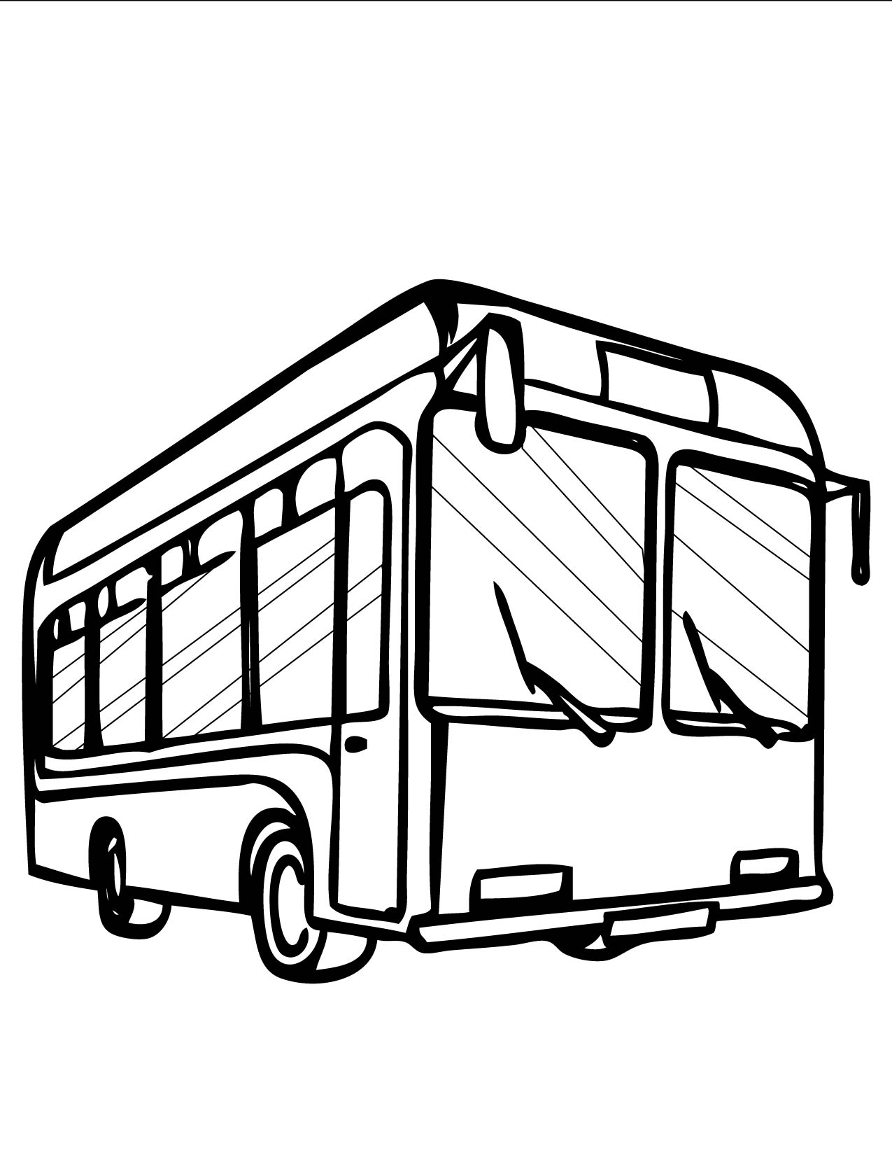 City Bus Clipart Black And White.