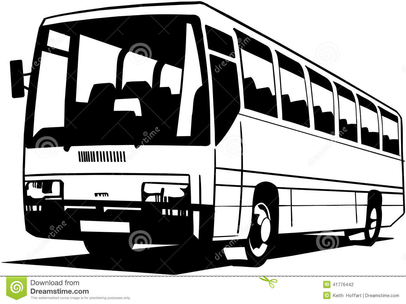 City bus clipart black and white » Clipart Station.