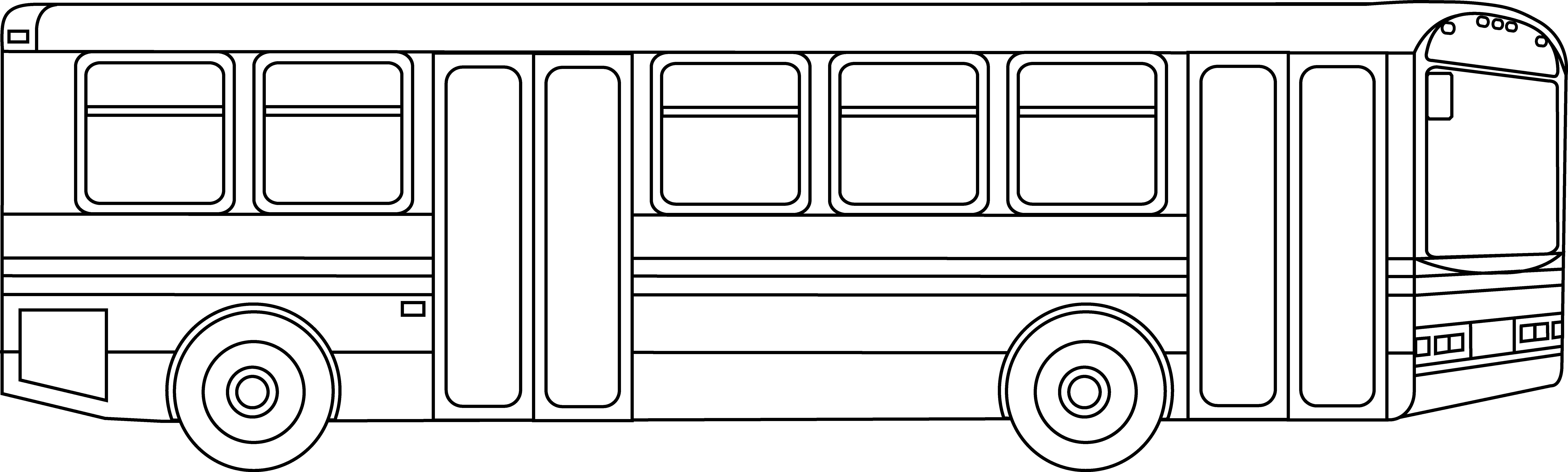 Public Transportation Bus Outline.