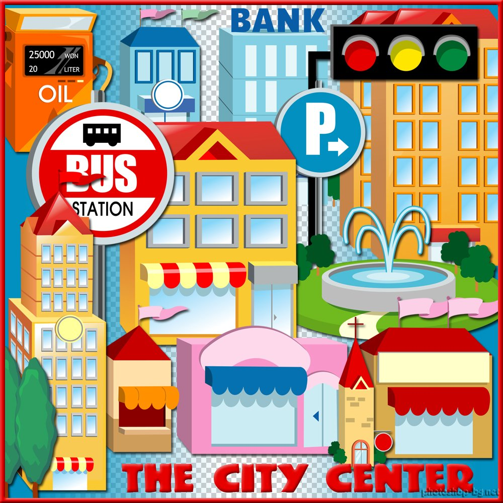 City centre clipart.