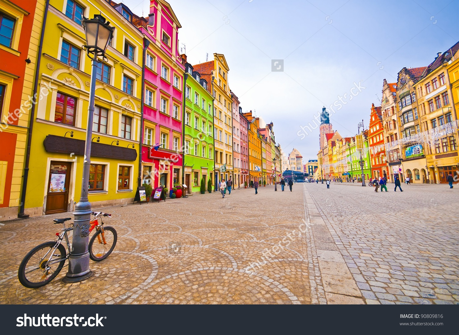 City Centre Market Square Tenements Wroclaw Stock Photo 90809816.