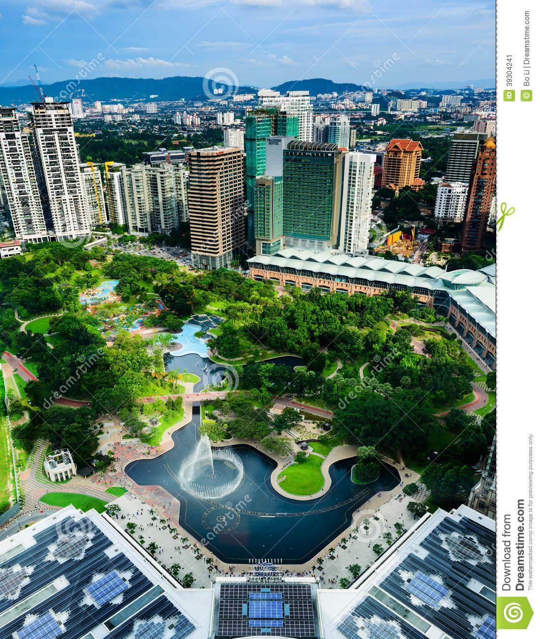 Kuala Lumpur City Centre Park Editorial Photo.
