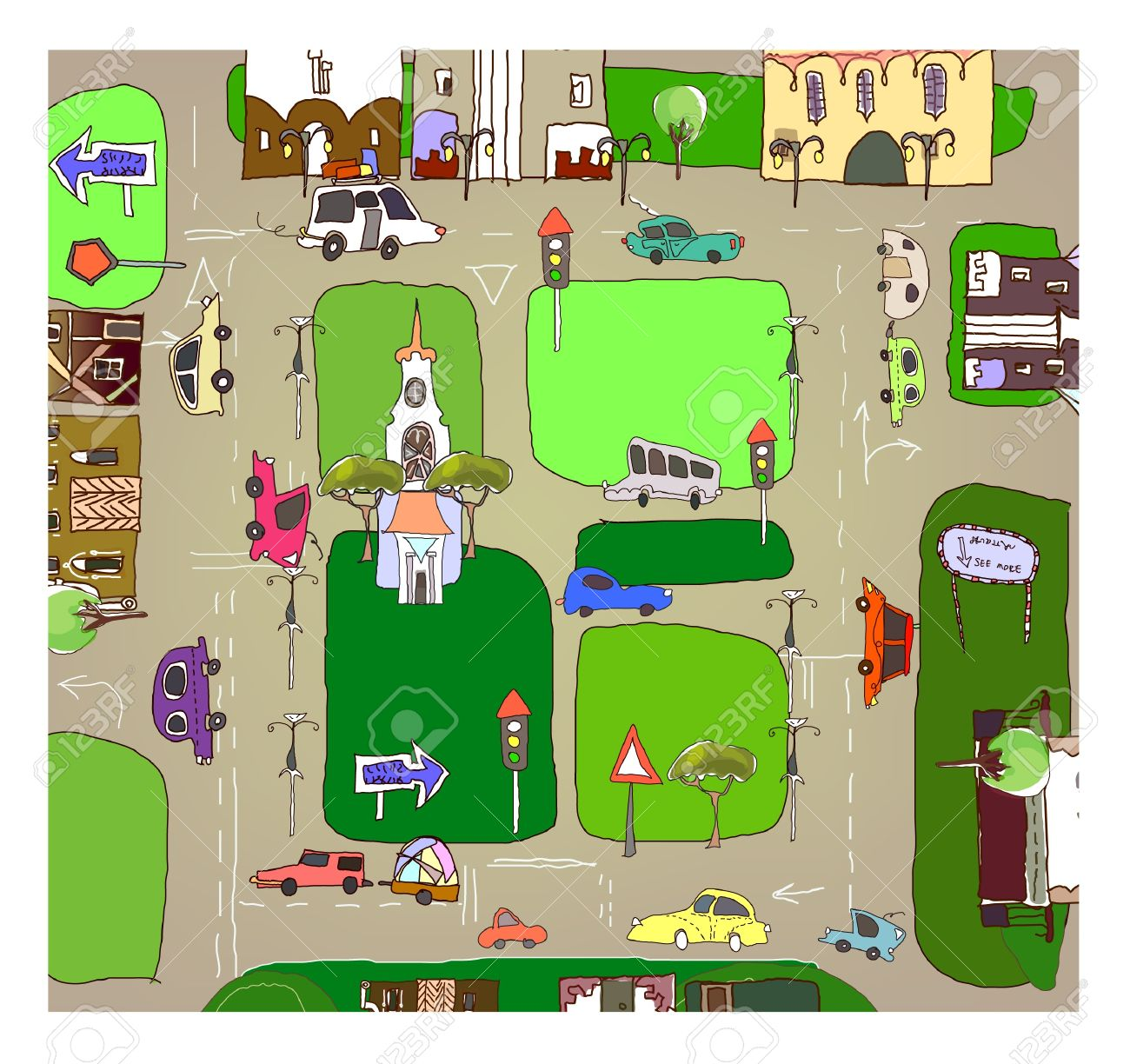 City Map Royalty Free Cliparts, Vectors, And Stock Illustration.