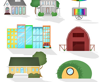Church barns house clipart.