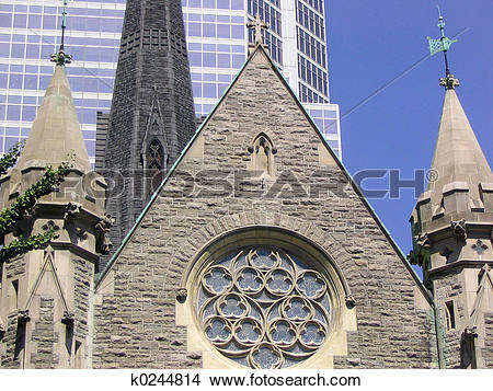 Stock Photo of city church spires k0244814.