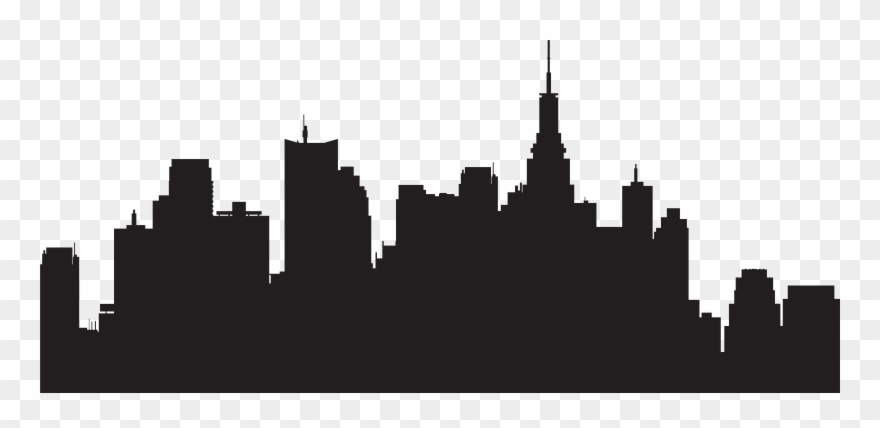 New York City Silhouette Skyline Clipart (#118590).