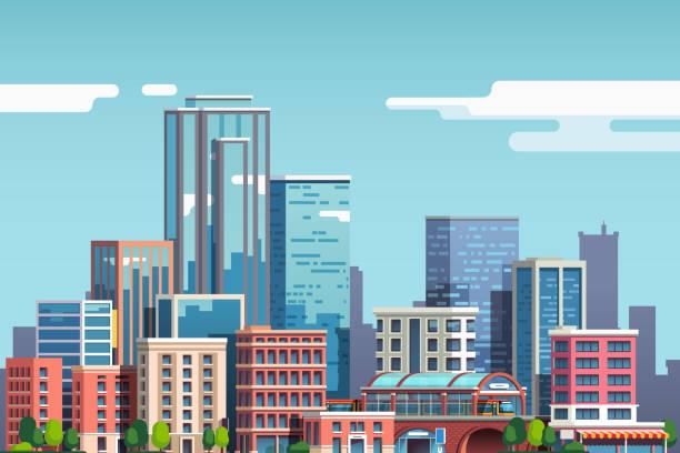 Best City Illustrations, Royalty.