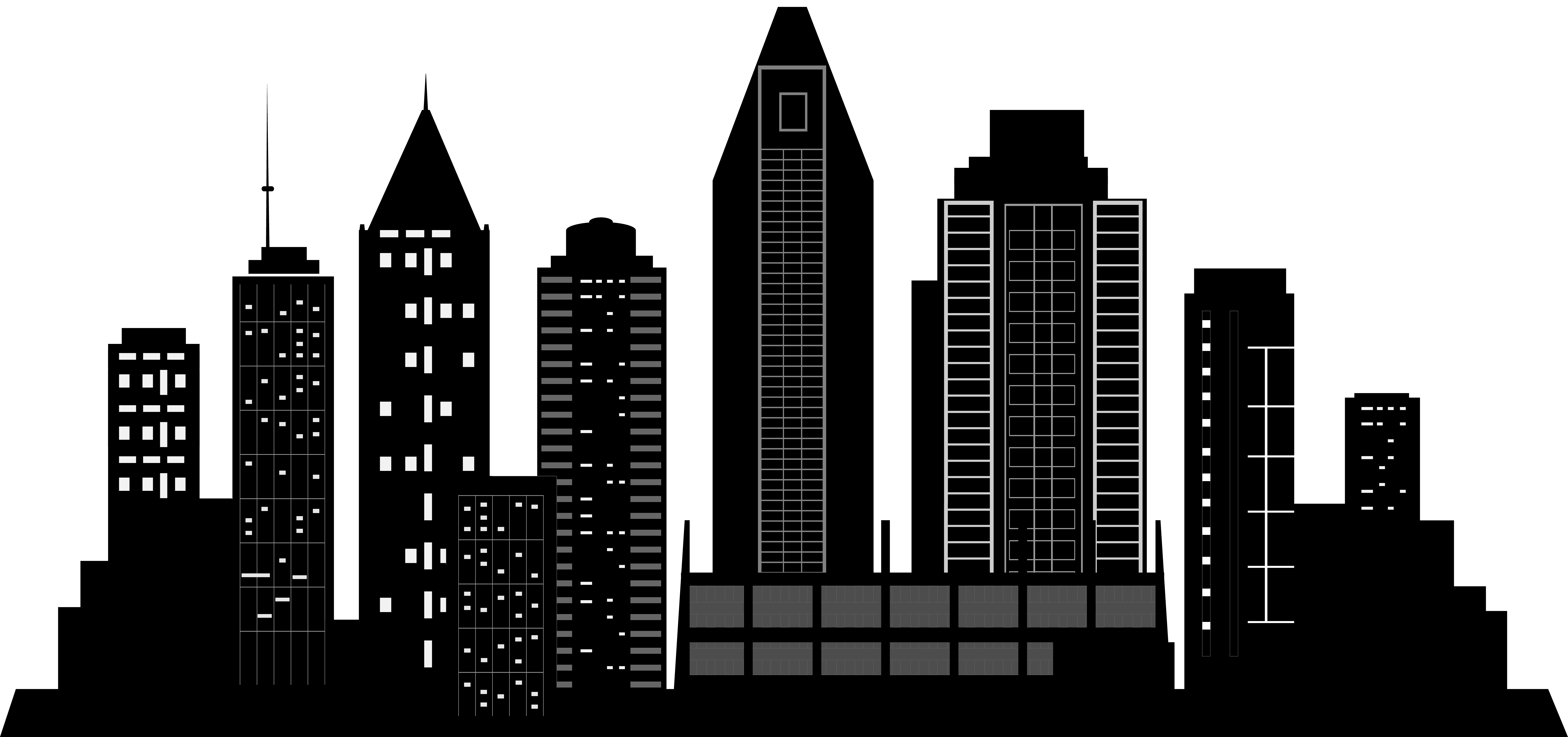 City Silhouette PNG Clip Art.