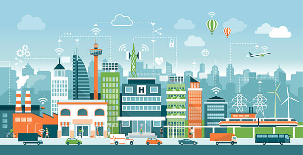 Best Smart City Illustrations, Royalty.