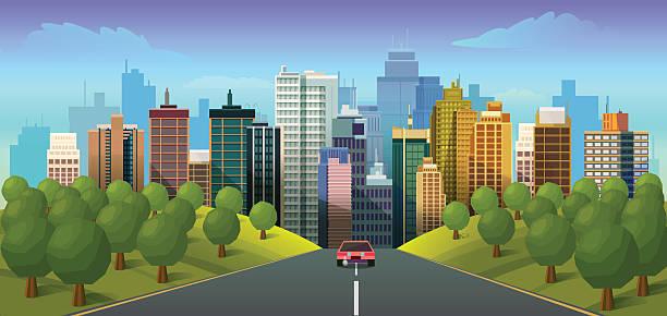 Best City Road Illustrations, Royalty.