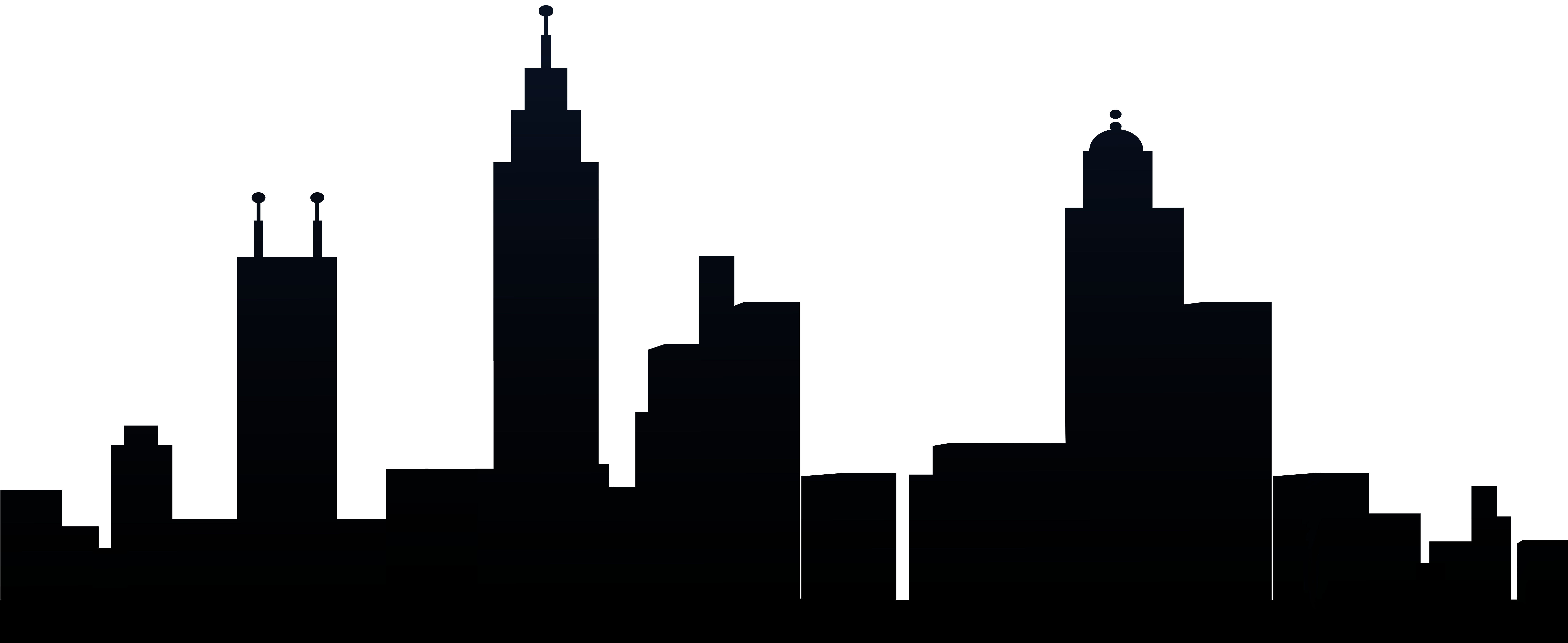 City Silhouette PNG Clip Art Image.