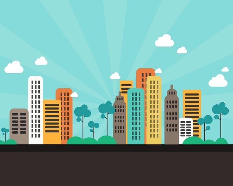 Building Cartoon City, skyscraper transparent background PNG.