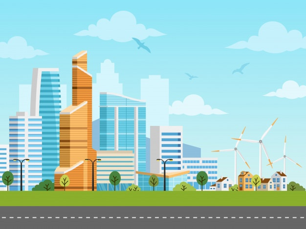 Collection of free Vector city background image. Download on.