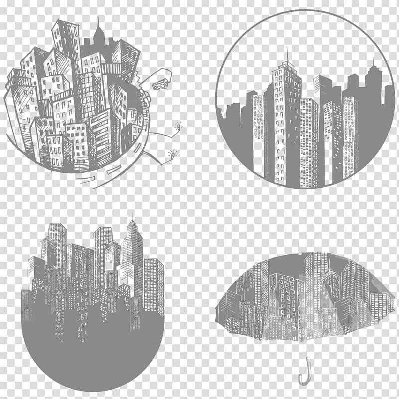 Cityscape Sticker PicsArt Studio , cityscape transparent.