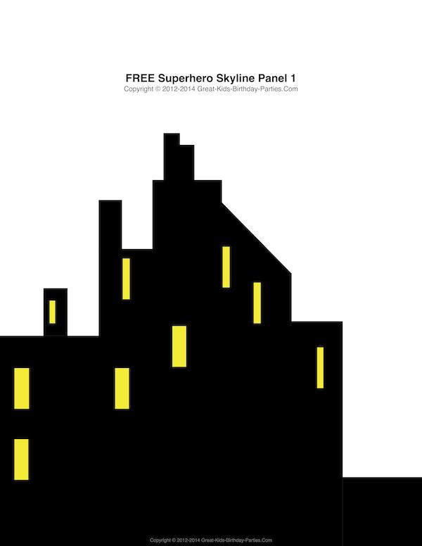 Superhero City Skyline Clipart Free.