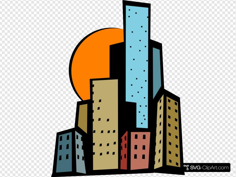 Skyscrapers In The City Clip art, Icon and SVG.