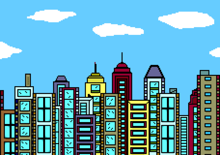 Skyline City clipart.