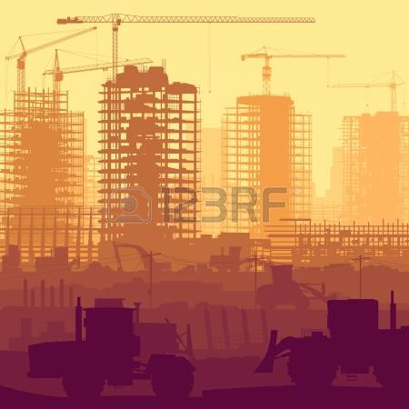 28,543 The Construction Site Stock Vector Illustration And Royalty.