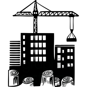 Construction site clipart.