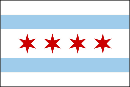 Clipart of chicago flag.