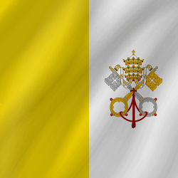 Vatican City flag clipart.