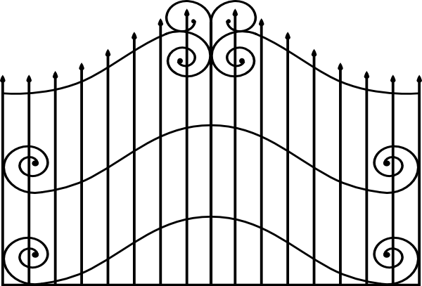 School Gate Clipart.