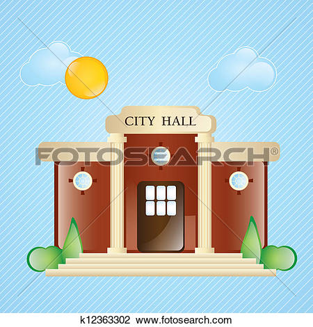 City hall Clipart Vector Graphics. 747 city hall EPS clip art.