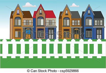 Clip Art Vector of house urban city csp5929866.
