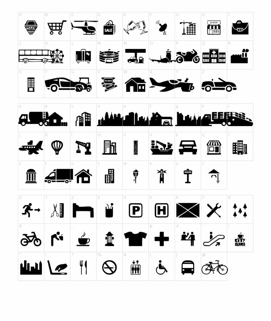 City Icons Font.