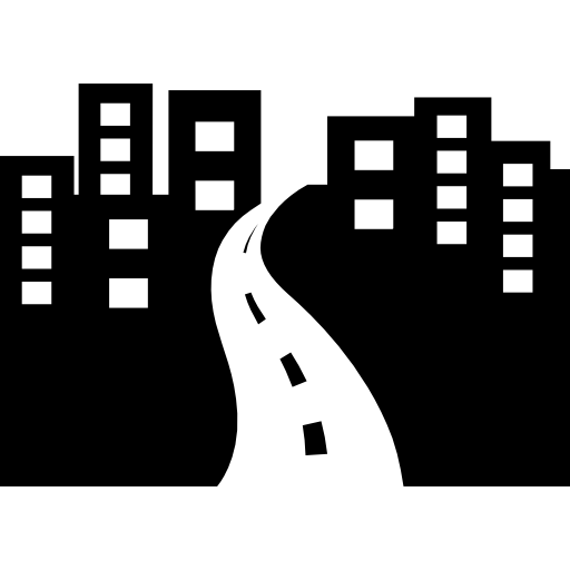 City avenue perspective Icons.