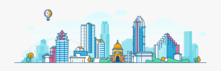 City Skyline Clipart Color.