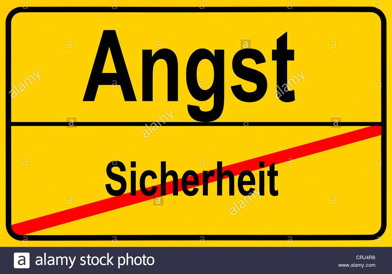 City Sign Sicherheit.