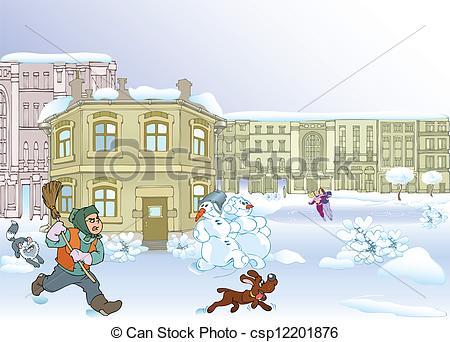 Winter city Vector Clipart Illustrations. 3,179 Winter city clip.
