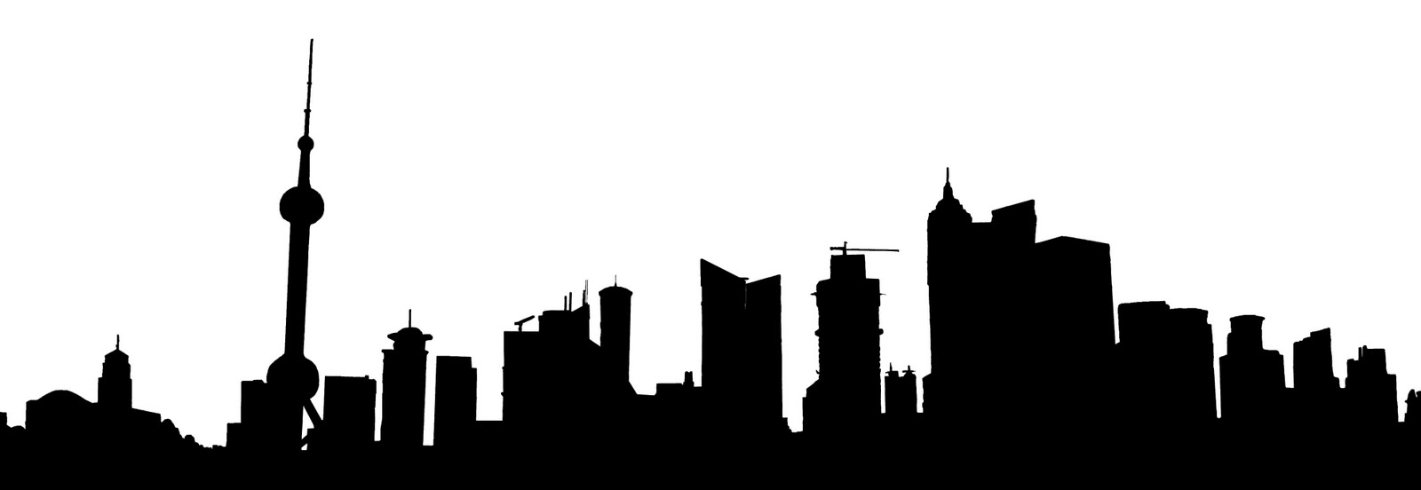 Landscape Silhouette Clipart.