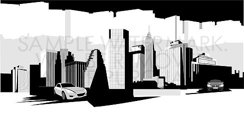 Landscape Clip Art Illustration #442.
