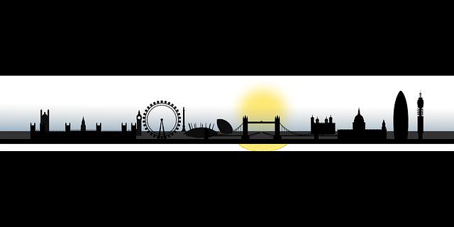 london, skyline, silhouette, city, cityscape, england.