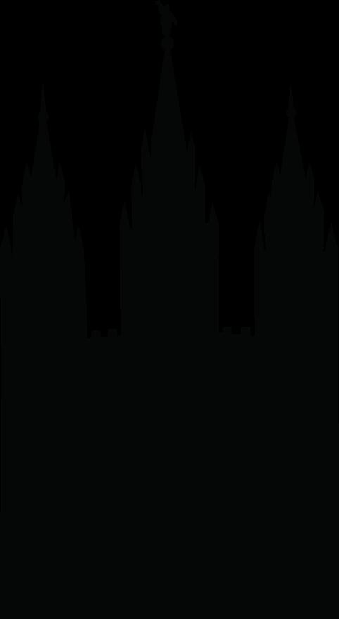 Salt Lake City Temple Silhouette Clipart.
