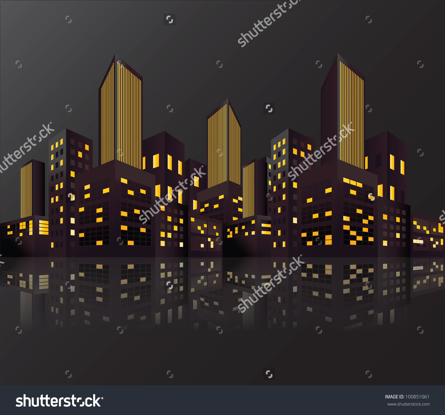 City Lights Vector Background Stock Vector 100851061.